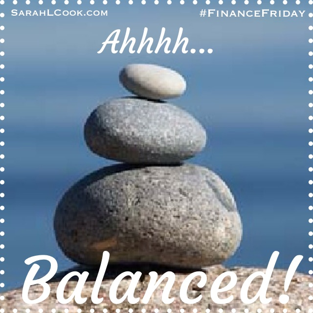 Balanced checkbook finance Friday Sarah L Cook